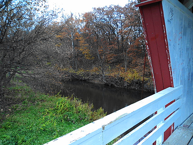 Other side of bridge looking out at North River.